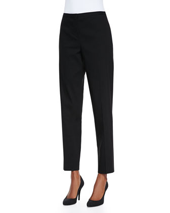 Jillian Slim Cropped Pants, Black