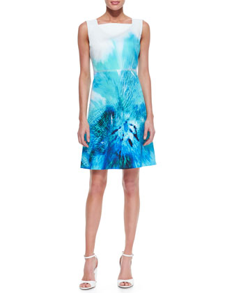 Melany Sleeveless A-Line Silk Dress