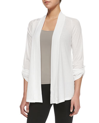 Splendid Classics Very Light Jersey Drape Cardigan, White