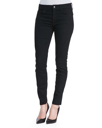 The High-Waist Skinny Jeans, Black