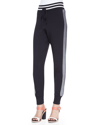 Sammi Side-Stripe Knit Pants