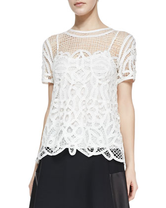 Nancy Sheer Netted/Lace Blouse