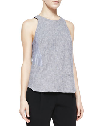 Adeline Patterned Sleeveless Top