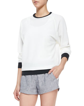 Classic Perforated/Solid Race Sweatshirt