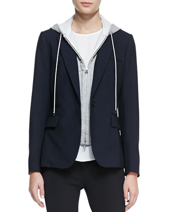 Classic Stretch-Wool Jacket with Dickey