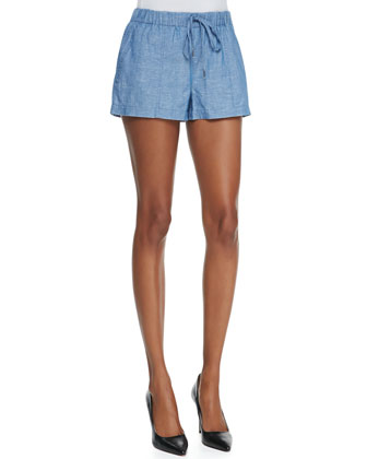 Sivan Cotton/Linen Denim Shorts