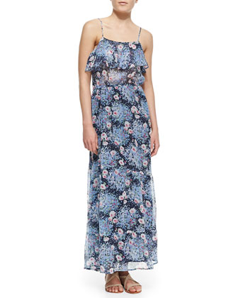 Rominette Floral-Print Silk Maxi Dress