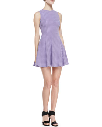 Snowe Knit Sleeveless Fit-and-Flare Dress