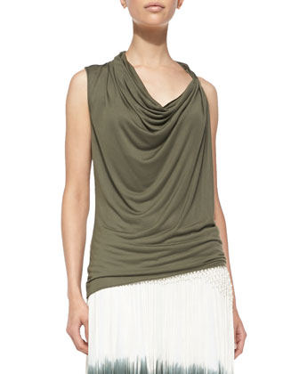 Asymmetric Twist Tank Top, Fatigue