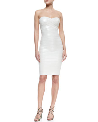 Strapless Sequined Bandage Dress