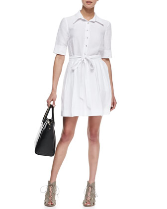 Cleo Tie-Waist Shirtdress