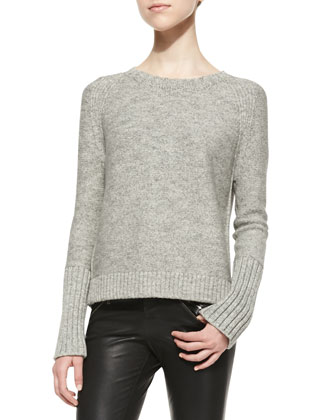 Helms Knit Bateau-Neck Sweater