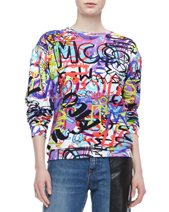 Graffiti Sweatshirt, Multicolor