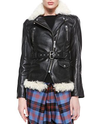 Shearing & Vacchetta Zip Moto Jacket