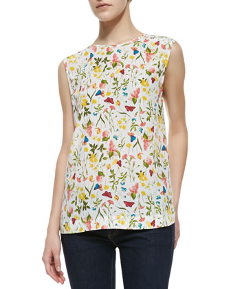 Kyle Printed Sleeveless Blouse