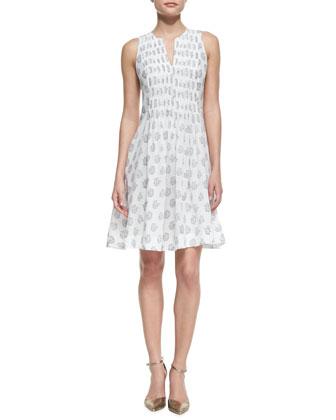 Floral-Print Cotton Voile Dress