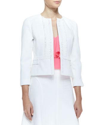 Sweet Retreat Embroidered Fitted Jacket