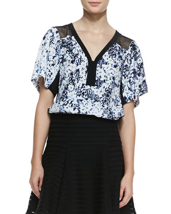 Til You Drop Floral-Print Top