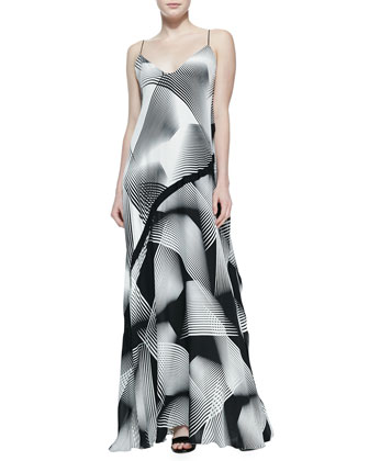 Optic Printed Sleeveless Gown