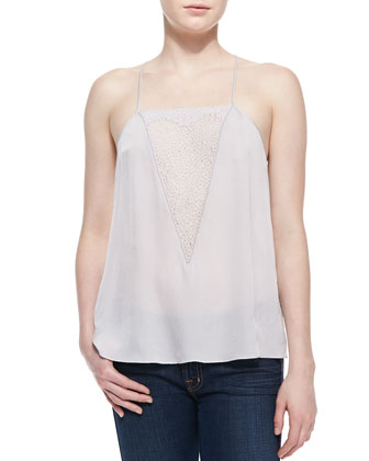 Lace-Inset Silk Camisole