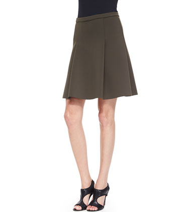 Kimberly Pleated Scuba Skirt