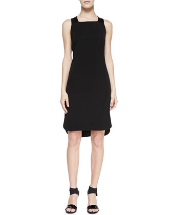 Antonina Racerback High-Low Dress, Black