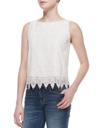 Anya Sleeveless Embroidered Top