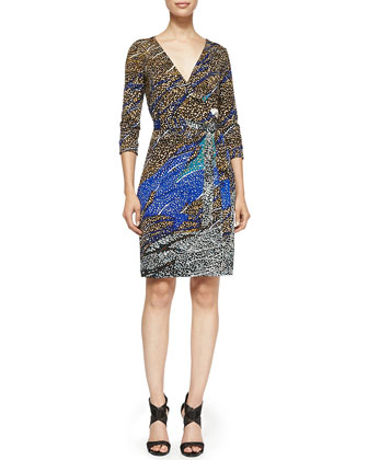 New Julian Two Printed Wrap Dress