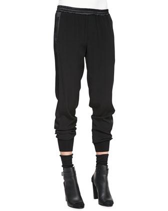 Rib-Cuff Jogger Pants