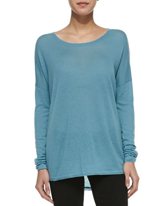 Lightweight Long-Sleeve Crew Top
