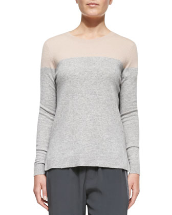 Long-Sleeve Colorblock Sweater
