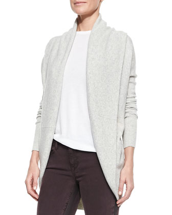 Elliptical Circle Cardigan, Heather Snow