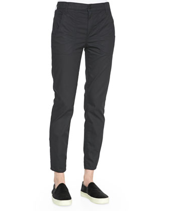 Twill Relaxed Cropped Pants
