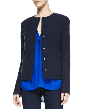 Snap-Front Four-Pocket Jacket