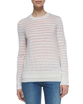 Naia Crewneck Striped Wool Sweater