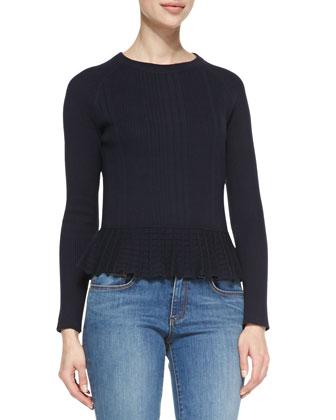 Sienna Cashmere/Silk Peplum Sweater