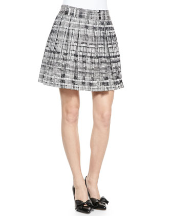 Kayla Printed Box Pleat Skirt