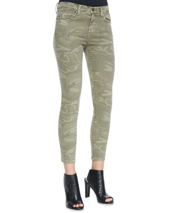 The Stiletto Camo-Print Jeans