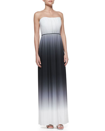 Monica Ombre Strapless Maxi Dress