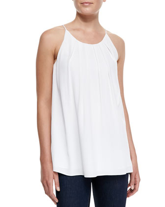Pleated Cut-In Flowy Tank