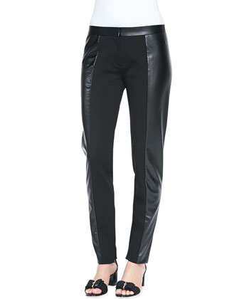 Mabley Ponte Faux-Leather Pants