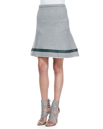 Embossed Knit Flare Skirt