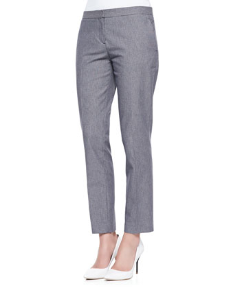 Item Cropped Houndstooth Suit Pants