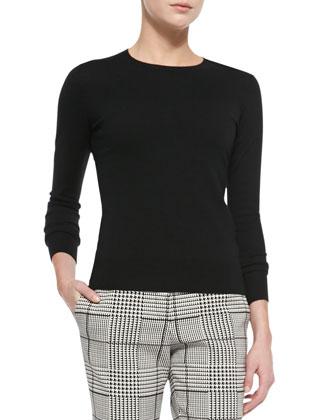 Perfect Staple Cashmere Crewneck Sweater