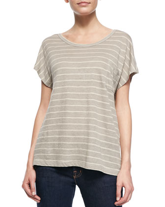 Hanby Striped Short-Sleeve Top