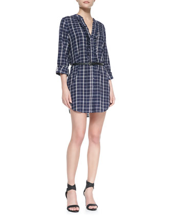 Jessalyn Poplin Shirt Dress
