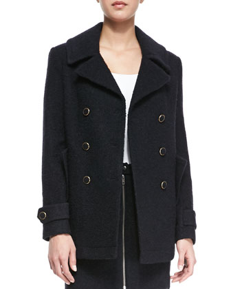 Gabrilyn Long-Sleeve Pea Coat