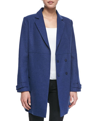 Liselle Double-Breasted Felt Coat