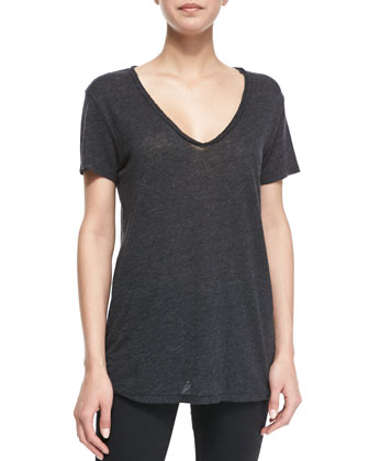 Naeva Heathered Slub Top