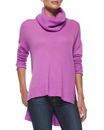 Ahiga Loose-Turtleneck Cashmere Sweater